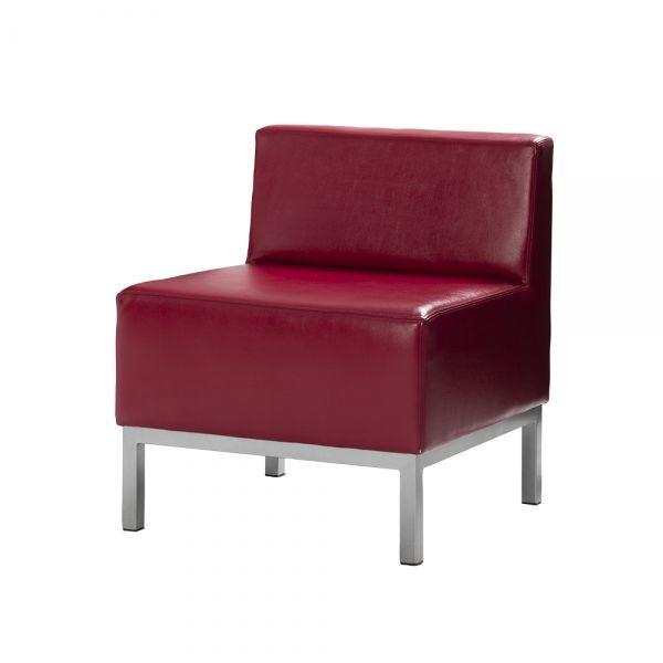 Heathrow Red Armless Chair