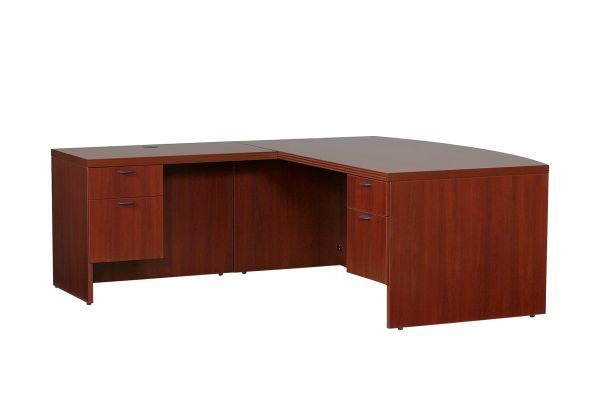 Lacasse 70s Series Bow Front LH L Executive Desk