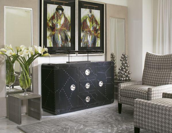 Black Domino Cabinet