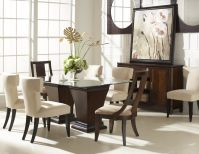 Boulevard Dining with Large Pedestal Table