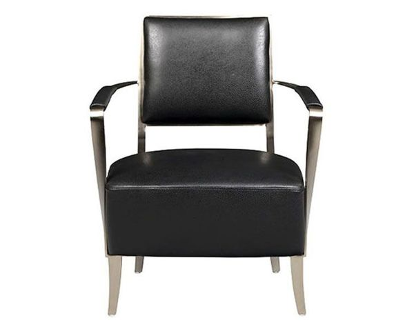 Oscar Accent Chair Black Leather 1