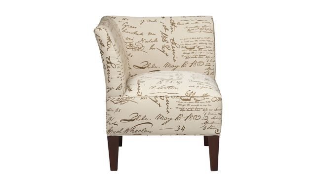 Cort Clearance Furniture Chair Linen Script Pattern Brule From