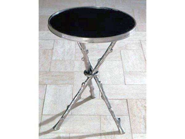 Twig Accent Table Nickle and Black Granite