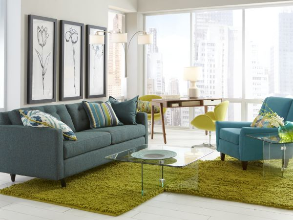 Darby Sofa with Brooklyn Accent Chair