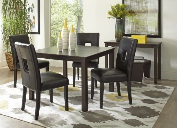 Easton Square Dining Room with 4 Archstone Chairs