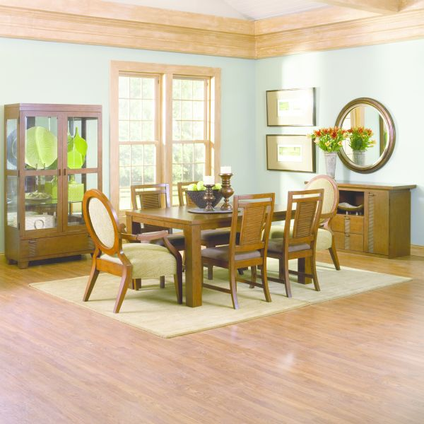 Mandalay Rectangle Dining Room Table and Chairs
