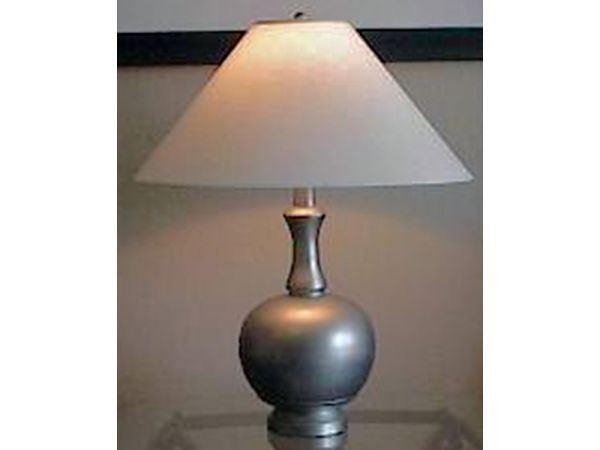 Platinum Silver Ball Table Lamp