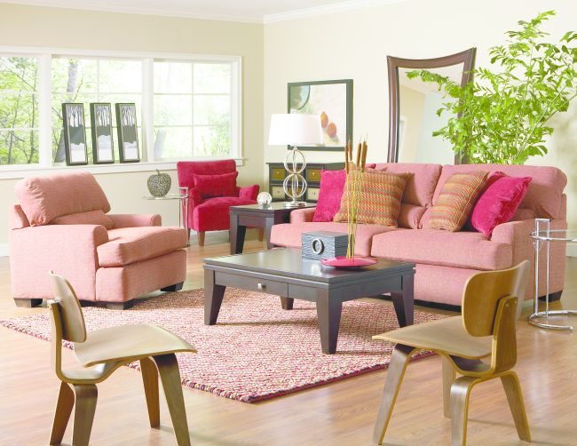Cort Clearance Furniture Sofa Chair Paprika Broyhill Livingston From
