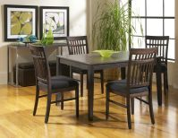 Dakota Sky Line Rectangle Dining Room with 4 Chairs Image 76
