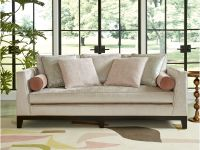 With a dramatic sloped arm and luxurious cream velvet, the Conway Sofa is not to b... Image 80