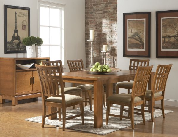 Bainbridge Rectangle Dining Room with Chairs 1