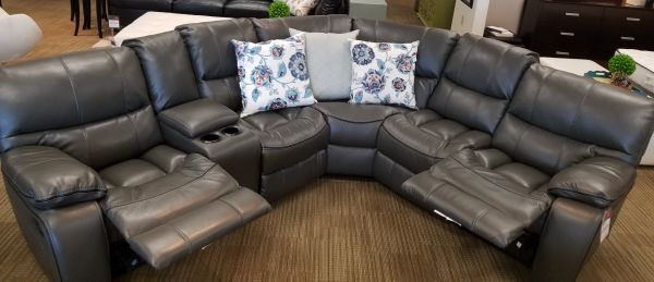 Home Elegance Joyce Grey Sofa 1