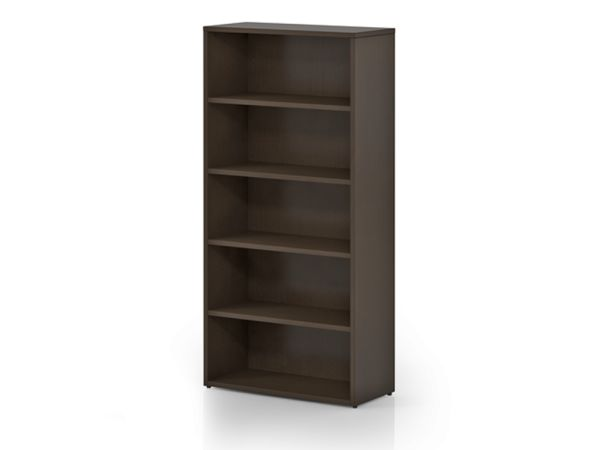 Nex Dark Chocolate Bookcase 73""