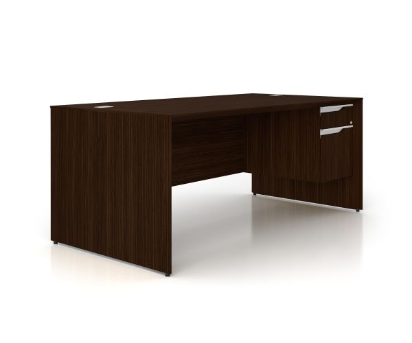 Nex Dark Chocolate Rt Ped Exec Desk