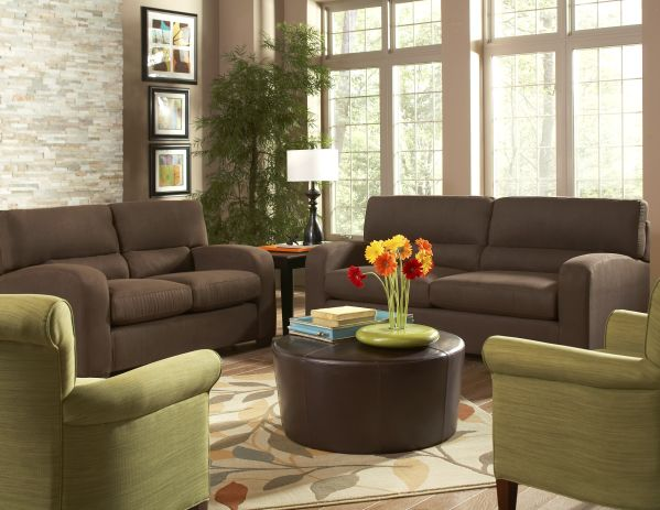 Charlie Living Room with Clover Accent Chair