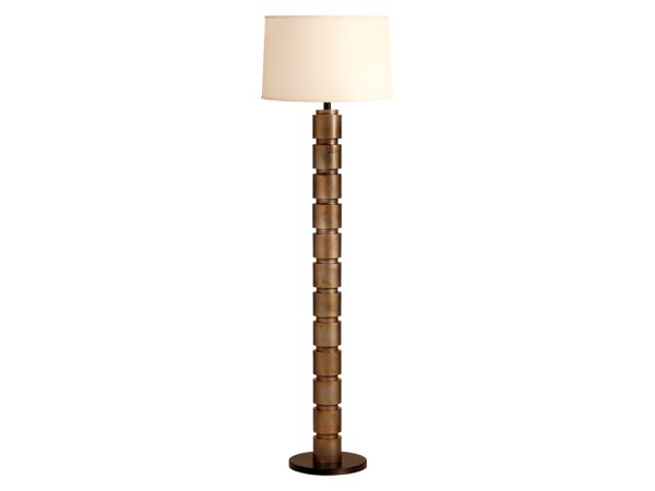 Stacked Gold Floor Lamp