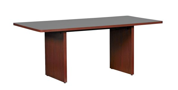 Give your office, conference room, or common area a contemproary look and feel with the Mahogany ...