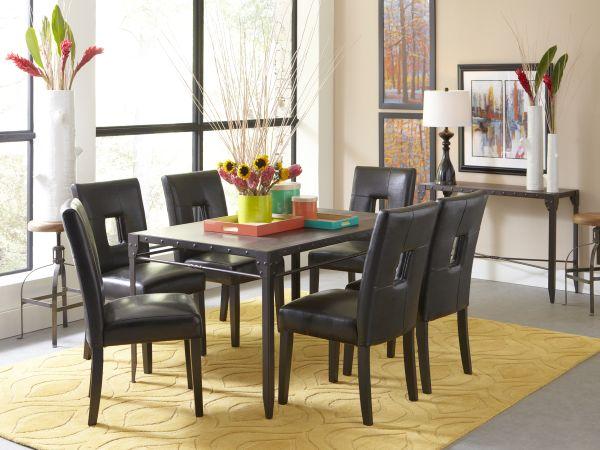 Mackenzie Rectangular Dining Room with 4 Archstone Chairs
