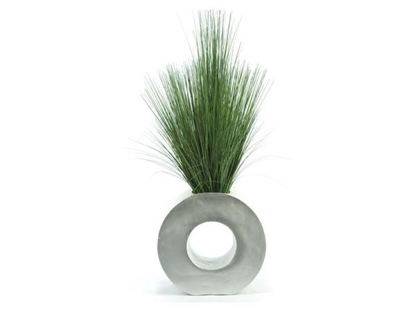 Grasses in Silver O Vase