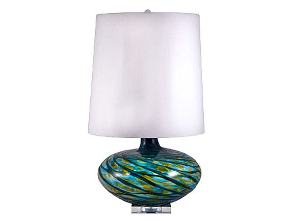 Aqua Swirl Table Lamp