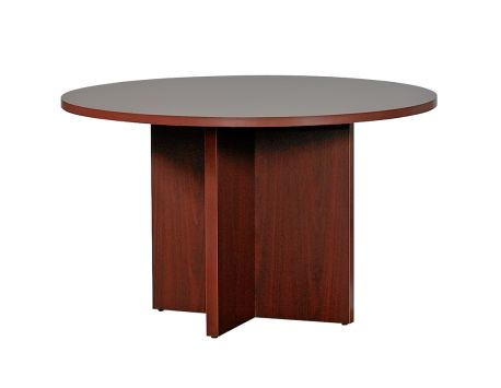 Hon mahogany 10700 48 round conference table for Round table 99 rosenheim