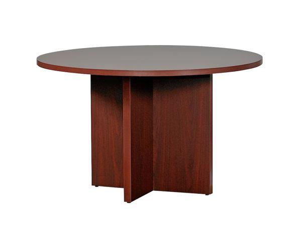 "HON Mahogany 10700 Series Conference Table 48"" Round 1"
