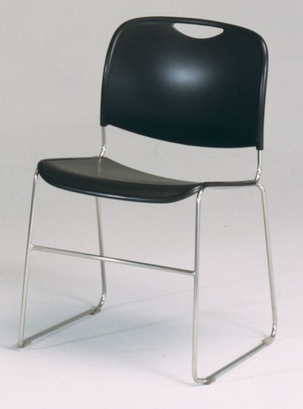 Census Stacking Chair Black
