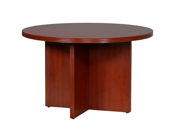 "Lacasse 70s Series 48"" Round Conference Table 1"