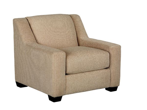 Dress up your contemporary living spaces with the elegant Burton chair. Covered in a subtle oatme...