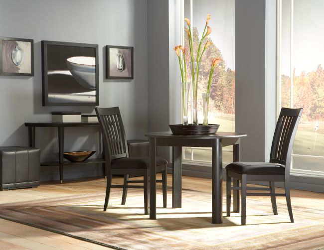 Cort Clearance Furniture Eclipse 5 Piece Round Dining Set