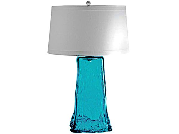 Turquoise Recycled Glass Table Lamp
