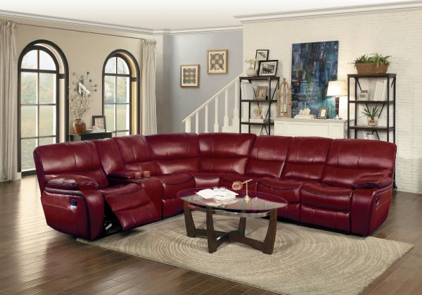 Home Elegance Joyce Red Sectional