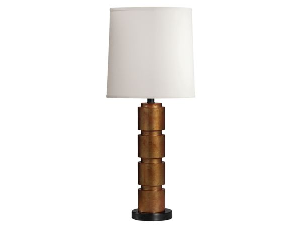 Stacked Gold Table Lamp