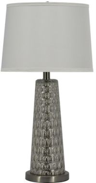 Table Lamp Silver Dimpled Glass Image 6