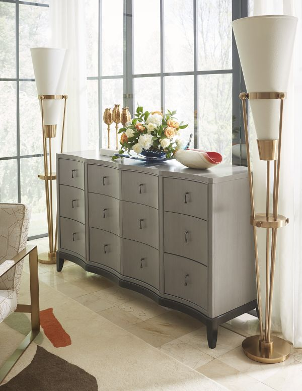The lavish Symphony Dresser matches modernist styles with fine craftsmanship and rich materials. ...
