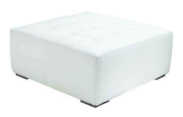Square Ottoman White 40x40 1