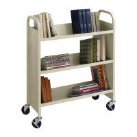 Single Side 3 Shelves Library Cart Image 225