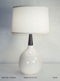 Bone and Rosewood Table Lamp Image 5