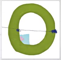 Green Circle Framed Artwork Image 821