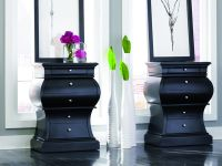 Curved Black 5 Drawer Chest