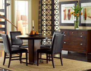 39999 Colfax Round Dining Table 4 Leather 29999