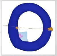 Blue Circle Wall Art Image 1