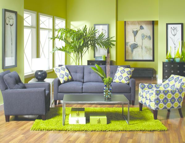 Cagny sofa and Alisa Accent Chair 1