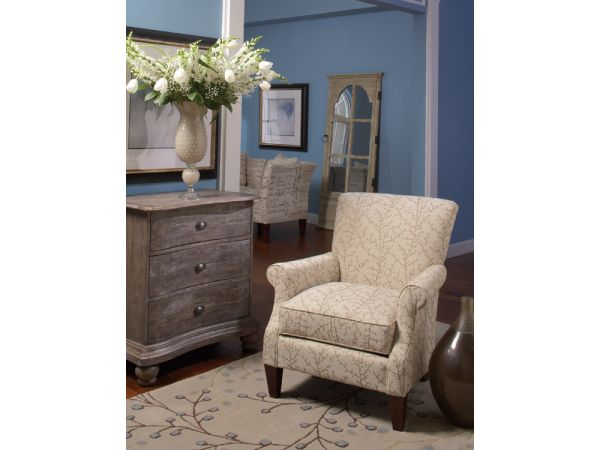 Stems Accent Chair with Reclaimed Chest