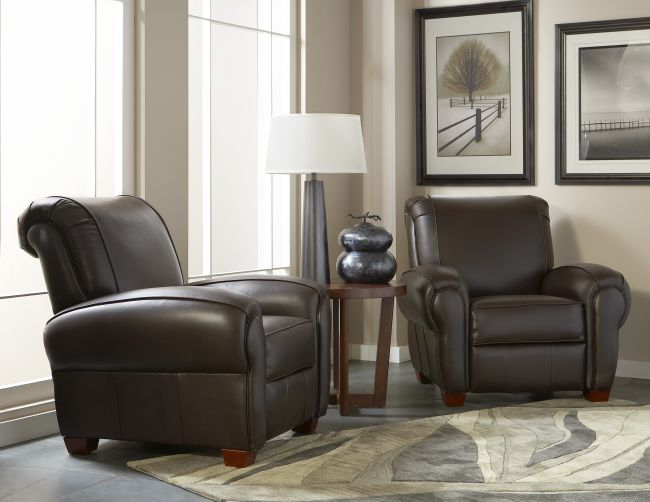Cort Clearance Furniture Recliner Brown Leather Ritter From