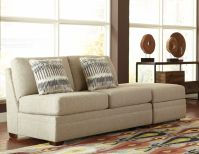 Ballard Armless Loveseat with Flip Top Storage Ottoman Image 8