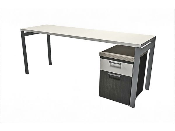 Staks 66x22 White Desk