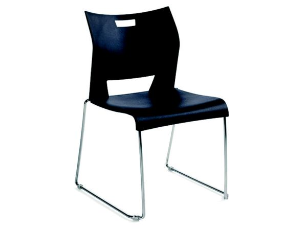 Duet Stack Chair Black