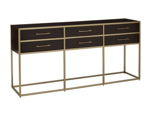 Gibson Console with 6 Storage Drawers 1