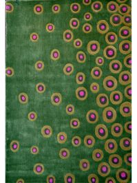 Festival Green and Pink Area Rug Image 2